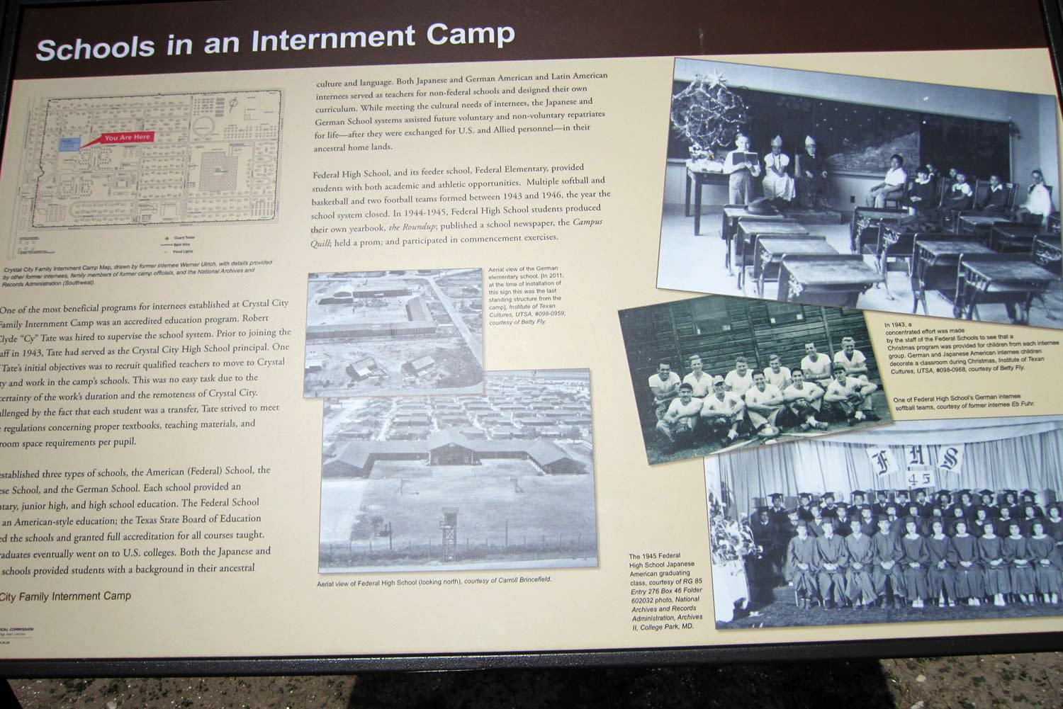 commemorating crystal city the transnational dimension of german schools in an internment camp panel of the interpretive trail photo courtesy of linda harms