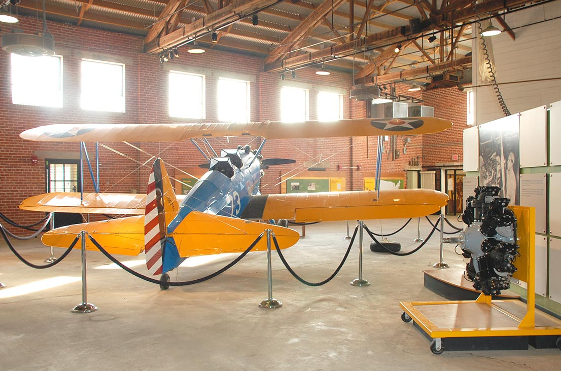 commemoration race and world war ii history and civil rights at interior of main exhibit hall hangar one tuskegee airmen national historic site