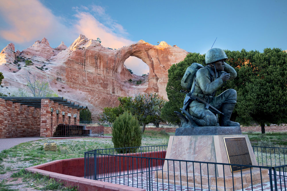 Fig. 2: John Fowler, Navajo Code Talker Memorial. Copyright 2014 John Fowler.