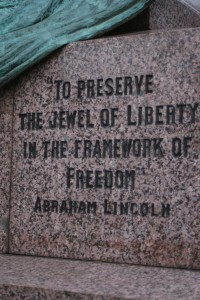 Detail of the Scots-American Soldiers' Memorial, Edinburgh. Photograph author's own.