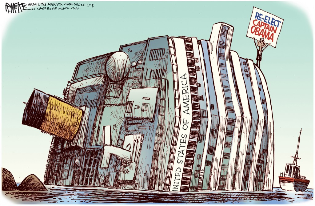 Image result for obama sinking ship cartoon