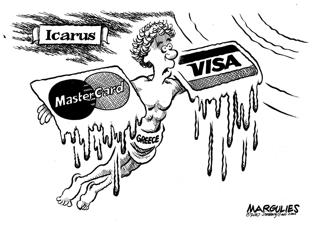 "© Copyright: Jimmy Margulies, ""Greek Debt"" 2010, http://www.politicalcartoons.com"