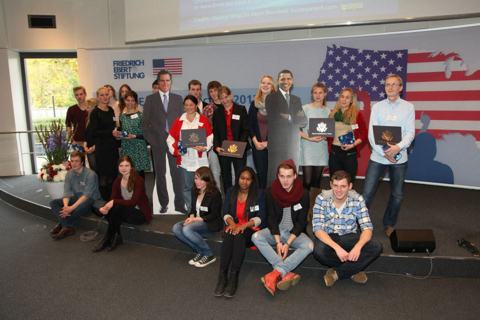 Winners of the project competition at the concluding event in Berlin, November 5, 2012.